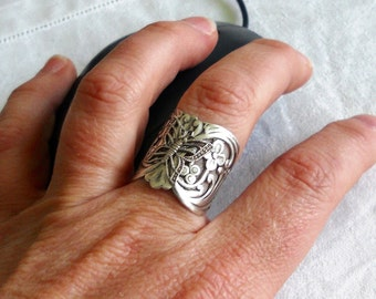 osO FLY Oso ox silver plated adjustable butterfly ring