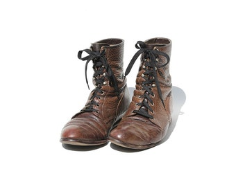 Size 9.5 Men's Dark Brown Leather Ankle Boots