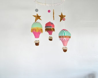Hot Air Balloon Mobile --- Made to Order --- Custom Mobile