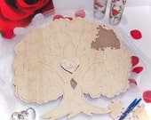 Custom Framed Wedding Tree Guest Book Puzzle- Personalized Unfinished Wedding Guest Book Alternative - 20-150  pc.puzzle guestbook
