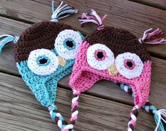 Owl Twin Baby Hats, Twin Baby Boys, Twin Boy Girl, Crochet Owl Hat, Newborn Twin Boys Hats, Twin Baby Shower Gifts, Twin Photo Props