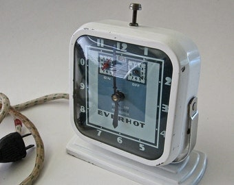 Vintage Art Deco Clock Everhot Timer Retro Kitchen Decor Accessories