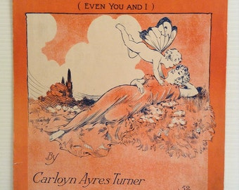 The World is Hungry for a Little Bit of Love 1915 Sheet Music Carolyn Ayres Turner
