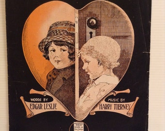 When You Were a Baby and I Was the Kid Next Door 1915 Sheet Music Edgar Leslie