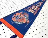 Vintage New York World's Fair Souvenir Felt Pennant - Blue (1964-65)