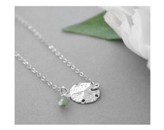 Beach Wedding, Personalized Sand Dollar Bracelet, Sterling silver Initial Bracelet, Nature Jewelry, Minimalist Jewelry, Nautical Jewelry