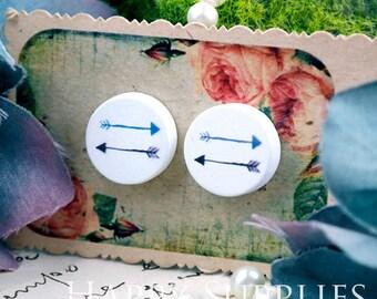 Buy 1 Get 1 Free - 20pcs 15mm (WC67) Round Handmade Photo Wood Cut Cabochon (Back White)