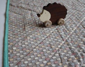 Hedgehog Japanese Organic Cotton Baby Blanket Quilt
