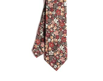 Janis - Peach Floral Men's Tie