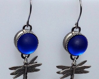 Magical and musical: Blue Nebula Dragonfly earrings