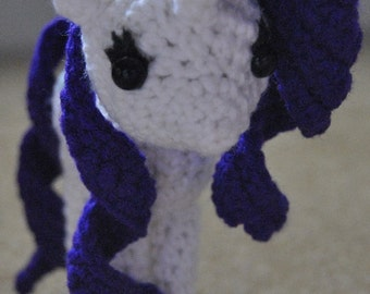 My Little Pony Rarity Inspired Doll - Crochet Amigurumi Handmade