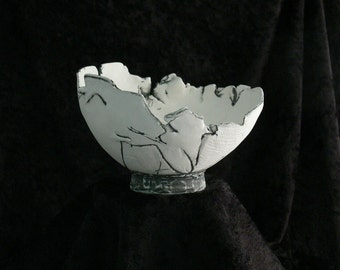 Hand Built Porcelain Bowl