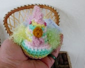 Crochet Chicken-WANDA-Pastel Funky chicken Amigurumi-Toy Stuffed Chicken Plush Decoration- Crochet Art Chicken-Chicken Pincushion - Ornament