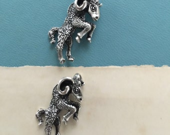 Mighty Ram Sterling Silver Plated Casting  (1 pc)