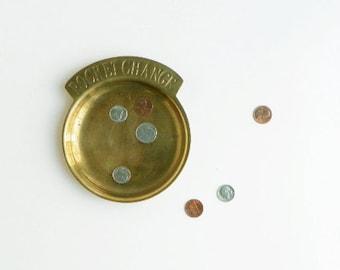 Vintage Brass Pocket Change Dish