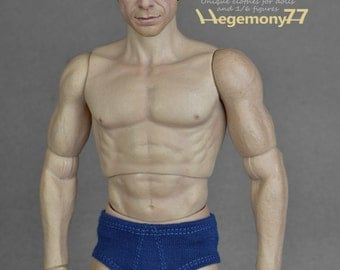 1/6th scale men's underwear for: male action figures and fashion dolls