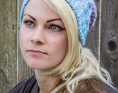 Sanguine Dip-Dyed Crochet Slouchy Hat