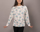 Vintage Sweet Blue & Pink Floral Long Sleeve Shirt by JCPenney