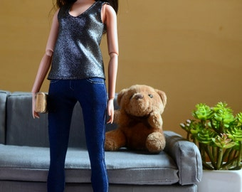 Sparkly Loose Tank Top for Barbie Fashionista dolls