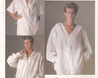 Blouse Pattern Vogue 1509 by Calvin Klein Size 8 Uncut