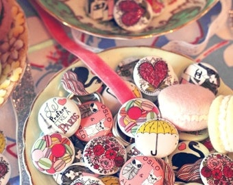 The Badge Patch Button Set - Illustrated by: Taren S. Black