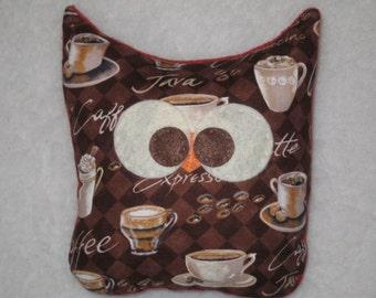 Coffee Owl - Owl Plush - Kitchen Decor - Owl Decor - READY TO SHIP