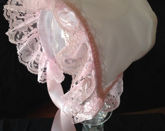 The Katherine Rose Christening Baby Bonnet, Easter Bonnet