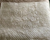 Twirling Trebles OOAK quilted throw, Minky back  RESERVED