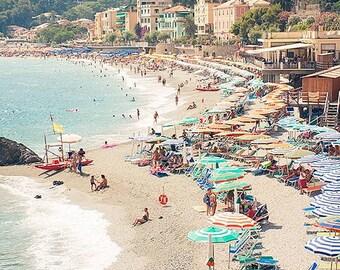Shores of Monterosso Print, Cinque Terre Beach Photo, Italy Wall Art