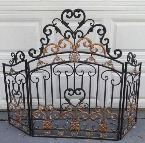 fireplace screen ornamental iron free standing