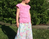Girls Beach Comber Capri Pant PDF Digital Sewing Pattern....sizes 2T-14 Instant Download