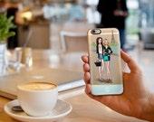 Custom Illustrated Transparent iPhone / Samsung Galaxy S6 Case with Monogram