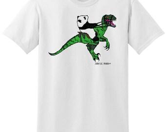 Dinosaur panda unisex T-shirt
