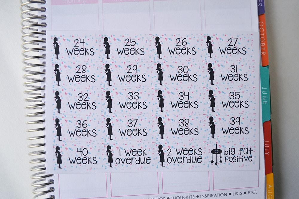 pregnancy stickers set of 62 pregnancy countdown stickers
