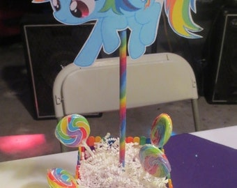 Rainbow dash centerpiece