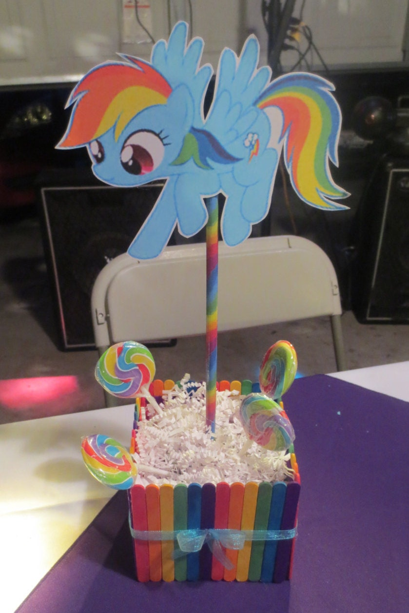 rainbow dash cake template - rainbow dash centerpiece