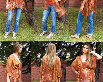 Kimono Jacket Sewing Pattern, PDF Sewing Pattern, Easy Sewing Pattern For Small To Plus Size, Kimono pdf pattern