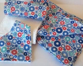 SALE - Baby Shower Gift for Boys, Boy Gift Set, Baby Shower Gift, Baby Boy Blanket, Boy Dribble Bib, Burp Cloth, Flannelette Blanket