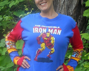 Ironman Upcycled Long Sleeve T-Shirt
