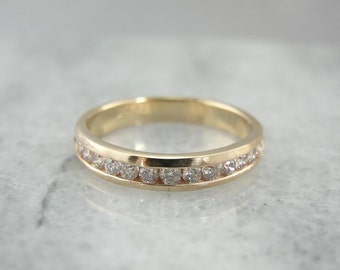 Perfectly Proportioned And Polished Vintage Diamond Wedding Band 6M5LW7-P