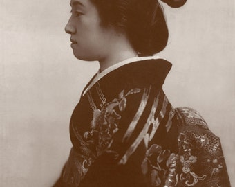 Geisha Girl, Japanese vintage photography, FINE ART PRINT, Japanese woman portrait, Japanese geishas, beauties art prints, posters, wall art