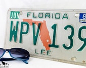 Vintage 1983 Lee County, Florida License Plate,  Florida Collectible Automotive Decor, or Craft Accessory