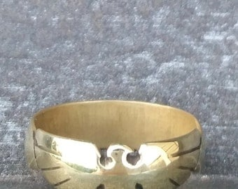 Thunderbird Ring - Hand Carved in Brass