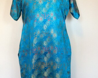 Exotic Turquoise Dress - Med