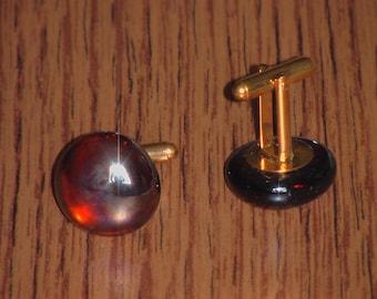 Glass Pebble Cufflinks