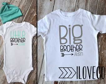 Big Brother Little Brother Outfit  / Beanie Optional / Photo Prop / Cousins / Brothers / Sisters