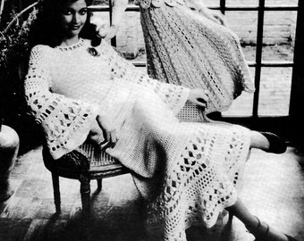 Lace Tunic Top with Skirt Vintage Crochet Pattern Download