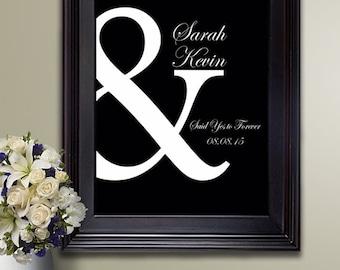 Ampersand poster / Wedding poster / Housewarming gift / gift for women / best friend gift / Wedding guest book / entryway decor /Foyer Decor