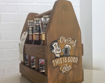 Decorated wooden bottle racks