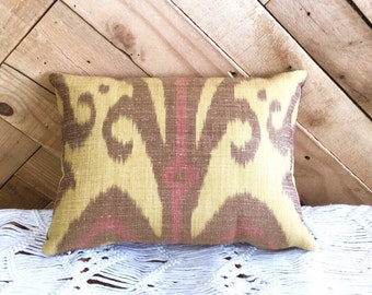 "Silk Carleton V Ikat ""Marrakech"" Pillow Bohemian, Tribal, Ethnic, Boho Style"